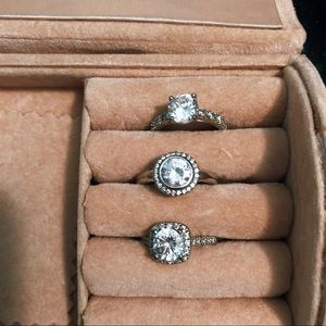 [3 ITEMS] engagement style rings